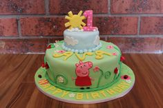 Peppa Pig Birthday Cake by Oh So Tasty Cakes. You'll find this Cake Appreciation Society Member in our Directory at www.cakeappreciationsociety.com