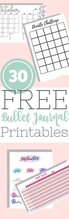 Free Printable Bullet Journal Pages Free printables, Bullet and - free journal templates