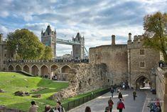 London Tower + Tower Bridge London, Tower Bridge, Scenery, Nature, London England