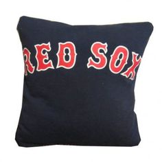 Boston Red Sox recycled t-shirt throw pillow $25