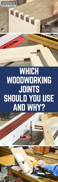 There are various woodworking joints in use. Some are stronger than others are. Let's discuss the more popular joints, so you know which to use for your projects. The Butt Joint is an easy woodworking joint. It joins two pieces of wood by merely butting them together. A biscuit joint is nothing more than a reinforced Butt joint. The biscuit is an oval-shaped piece.
