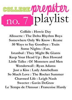College Prepster Playlist No. 7