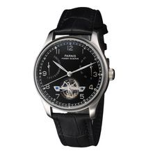 43mm Parnis Wristwatches Black Dial Power Reserve Seagull Automatic Movement Men's Watch Relogio Masculino(China (Mainland))