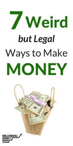 These are some weird ways to make money! #makemoney, #sidehustle #Money