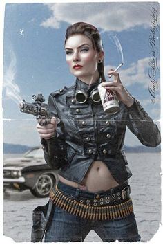 :: Blatz beer and a Dodge Charger add an air of spunk to this late phase SteamPunk ::