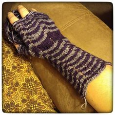 On the needles - the armwarmers I'm working on in When Doves Cry... I love them so far!