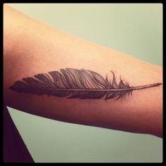 Miss Sita @ 109 tattoo barcelona. Www.109.es beautiful feather tattoo