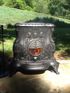 "My ""Parlor 5"" parlor stove. Authentic antique by G.H. Ransom & Co. Pat'd in 1855"