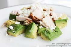 Turkey Avocado Feta Salad - Clean Eating Recipe. Great for lunch & super easy to make.
