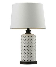 This Ceramic Tone Accent Table Lamp is perfect! #zulilyfinds