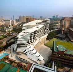 Jockey Club Innovation Tower in Hong Kong. Zaha Hadid Architects