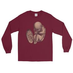 Long Sleeved | Fetus at Nine Months T-Shirt