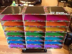 My DIY classroom mailboxes using flat rate shipping boxes and duck tape