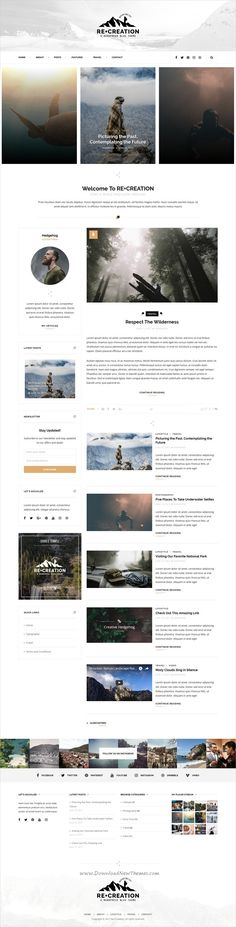 ReCreation is clean and modern design responsive #WordPress #blogging theme for creative #writers and bloggers website download now..