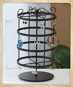92 pairs Copper Color Rotating Earring Holder Earring Tree