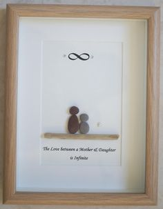 Pebble Art framed Picture The Love between a Mother & by Jewlls4u