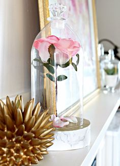 DIY - turn a  2L Pop Bottle into a Beauty and the Beast Rose Cloche
