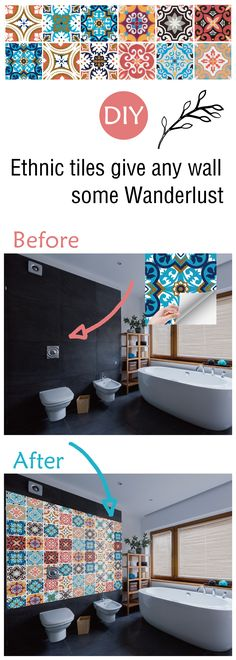 ethnic tiles give any wall some wanderlust!