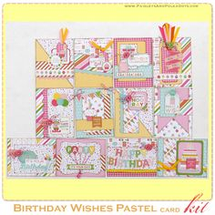 Birthday Wishes Pastel 12 Card Kit