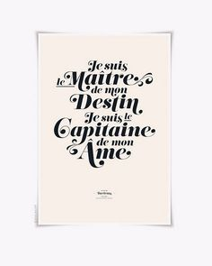 i am the master of my destiny; i am the captain of my fate. Quote Citation, My Destiny, French Quotes, Some Words, Beautiful Words, Favorite Quotes, Favorite Things, Decir No, Positive Quotes