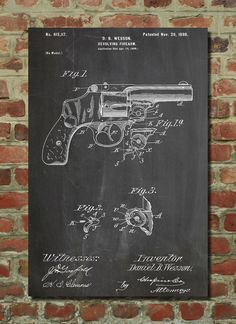 Wesson Pistol 1898 Print || PatentPrints