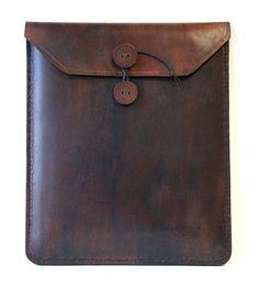 Antique Brown Leather iPad Case - lifestylerstore - http://www.lifestylerstore.com/antique-brown-leather-ipad-case/