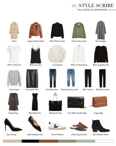 fall beauty This is what Ive been teasing the last few weeks on InstaStories! Im so excited to share my very first capsule wardrobe for . I thought the most helpful way to do it would be. Capsule Outfits, Fashion Capsule, Mode Outfits, Fall Outfits, Capsule Clothing, Travel Outfits, Clothing Staples, Clothing Ideas, Minimal Wardrobe