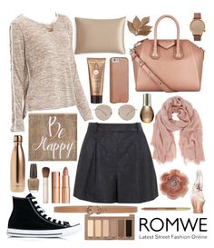 """""""lazy nude"""" by rapunzelpower ❤ liked on Polyvore featuring 3.1 Phillip Lim, Converse, Gucci, Miss Selfridge, Max Studio, Givenchy, Mint Velvet, Charlotte Tilbury, S'well and Slip"""