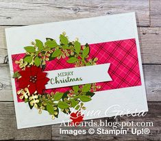 Christmas Card Crafts, Stampin Up Christmas, Christmas Cards To Make, Christmas Greetings, Holiday Cards, Card Making Inspiration, Making Ideas, Crafters Companion Christmas Cards, Leaf Cards