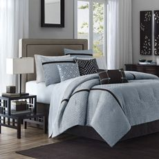 blue bedding from bed bath and beyond.
