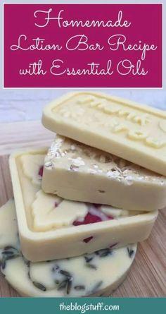 Diy Lotion, Lotion Bars, Homemade Body Lotion, Lotion En Barre, Homemade Soap Recipes, Salve Recipes, Homemade Gifts, Homemade Beauty Products, Home Made Soap