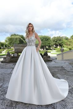 65e2e22be95bd Courtesy of Ashley and Justin wedding dresses; www.ashleyjustinbride.com Elegant  Wedding Dress