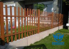Environmentally friendly wood grain aluminium profile for fences and rails for courtyards and gardens.
