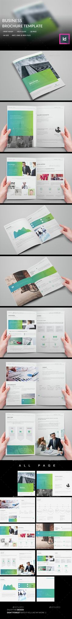 Business Brochure Template InDesign INDD. Download here: http://graphicriver.net/item/business-brochure-template/14824582?ref=ksioks