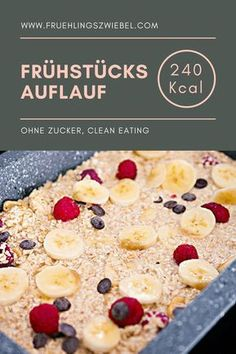 Baked Oatmeal basic recipe - Meal Prep for Baked Oatmeal Grundrezept – Meal Prep fürs Frühstück Ideal breakfast to prepare: Baked Oatmeal In my variant with banana and berries. The oatmeal casserole is easy to adjust and tastes great with other fruits - Basic Oatmeal Recipe, Basic Recipe, Breakfast Desayunos, Breakfast Recipes, Breakfast Cooking, Breakfast Casserole, Snacks Sains, Baked Oatmeal, Baked Banana
