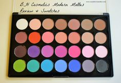 BH Cosmetics Modern Mattes 28 color eyeshadow palette Review & Swatches