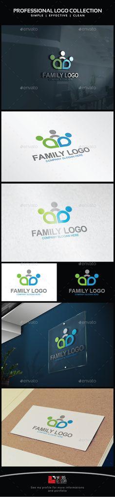 Family, Social Logo Template Vector EPS, AI. Download here: http://graphicriver.net/item/family-social-logo/12614645?ref=ksioks