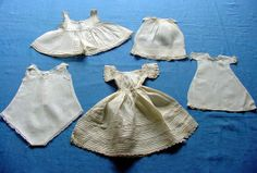 5 Authentic Antique Dolls Dresses. 18901915 by chalcroft on Etsy, $24.95