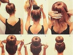 Sock Bun hacks, tips tricks; How to wear hair up in top knot like ballerina; Easy donut bun tutorials; Pictures, photos; Step-by-step guide