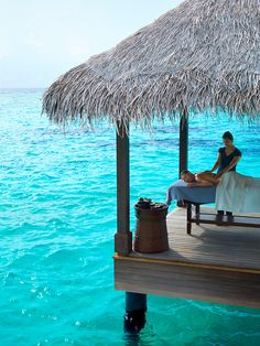 Massage on the water. I wouldn't even have to be the getting the massage! Lol