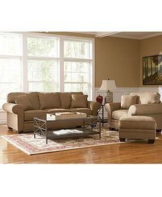 Raja Fabric Sofa Living Room Furniture Collection - furniture - Macy's