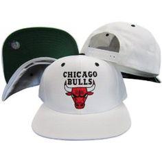 the latest 1c809 cfea3 Chicago Bulls White Snapback Adjustable Plastic Snap Back Hat   Cap. List  Price
