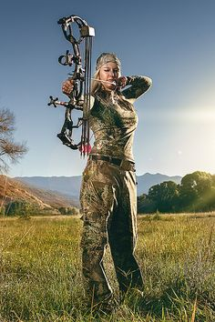 Bow Hunting | Bow Hunting Women | HuntDrop   And the time of the year where men wear those awesome camo colors yeehaw.