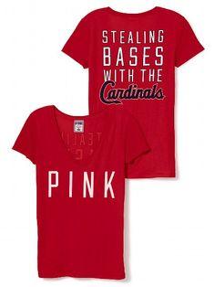 PINK St. Louis Cardinals V-Neck Tee #VictoriasSecret http://www.victoriassecret.com/pink/st-louis-cardinals/st-louis-cardinals-v-neck-tee-pink?ProductID=102116=OLS?cm_mmc=pinterest-_-product-_-x-_-x