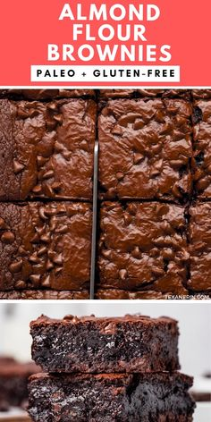 Almond Flour Brownies, Brownies Keto, Almond Flour Desserts, Healthy Brownies, Dairy Free Brownies, Almond Flour Cookies, Baking With Almond Flour, Almond Flour Recipes, Gooey Brownies
