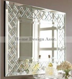 Large Decorative Wall Mirrors amazon - extra large venetian rectangle wall mirror beaded