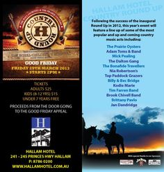 Hallam Country Music Roundup supporting the Royal Childrens Hospital Good Friday Appeal