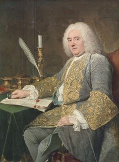 Jacques André Joseph Aved (French, 1702-1766), Portrait of Jean-Gabriel du Theil at the Signing of the Treaty of Vienna, 1738-1740, Cleveland Museum of Art