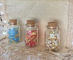 "Set Of 12 Cork Glass 2.25"" Bottles Baptism Communion Wedding Favors Recuerditos #BaptismChristeningWedding"