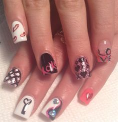 Day 45: Valentine's Day Nail Art - - NAILS Magazine